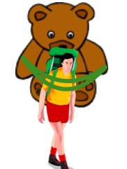 jemandem eine Bären aufbinden