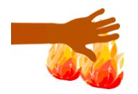 Die Hand für jemanden ins Feuer legen