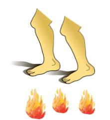 für jemanden durchs Feuer gehen