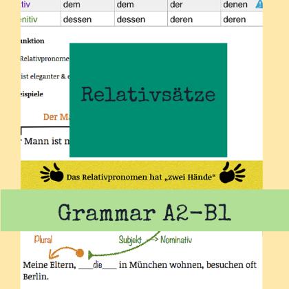 Deutsch lernen Kurs Relativsätze