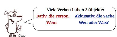 dativ oder akkusativ