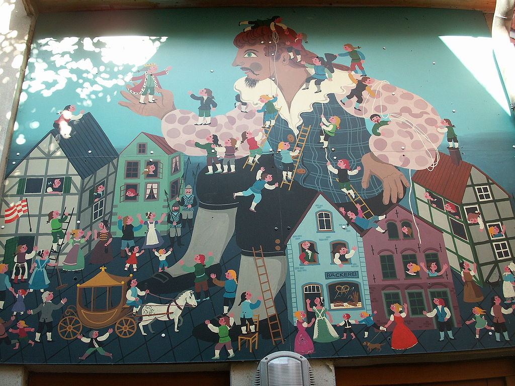 GNU-Lizens: Picture's author:User:Javier Carro This picture has been made to a mural at the facade of a toy-shop in Bremen, Germany.