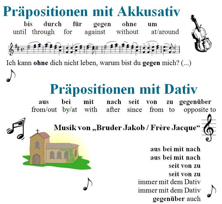 learn dative and accusative prepositions with free german lessons. Black Bedroom Furniture Sets. Home Design Ideas