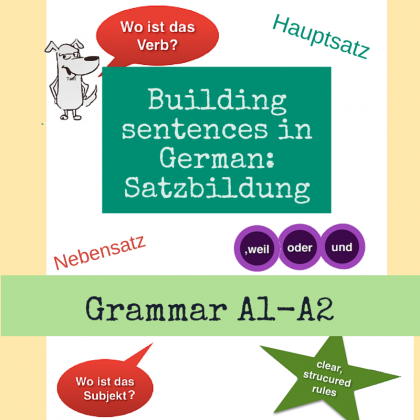 Building sentences in German