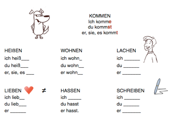 free-german-lessons-verben-im-singular