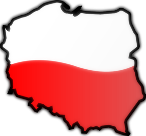 slowly spoken German news. map and flag of poland