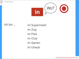 german preposition in masculine noun