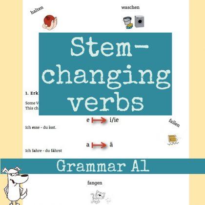German stem changing verbs  free german course