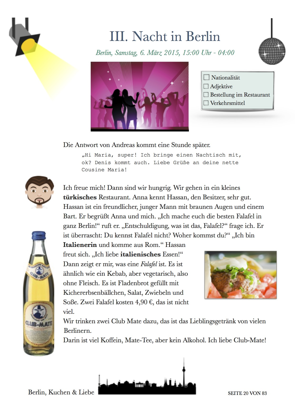 Ebook A1 Learn German with a story. prepare for the Goethe A1 Zertifikat